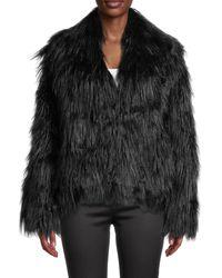 Zadig & Voltaire Faux Fur Coat - Black