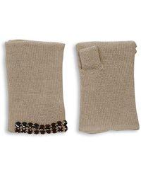 Portolano - Embellished Cashmere Fingerless Gloves - Lyst
