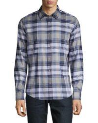 John Varvatos - Mayfield Plaid Shirt - Lyst