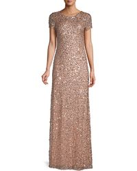 Adrianna Papell Beaded Column Gown - Multicolour