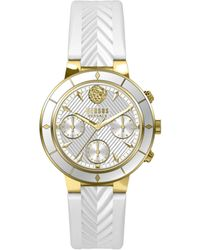 Versus - Harbor Heights Stainless Steel & Leather-strap Chronograph Watch - Lyst