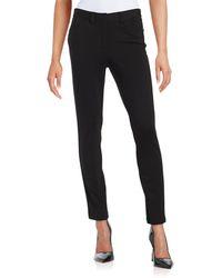 Calvin Klein Heathered Ponte Trousers - Black