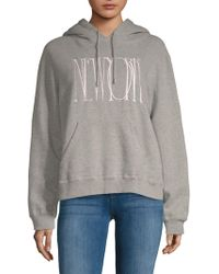 Public School - Graphic Heathered Hoodie - Lyst