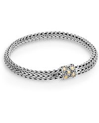 John Hardy Dot 18k Yellow Gold & Sterling Silver Oval Chain Bracelet - Metallic