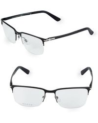 Gucci - 55mm Square Optical Glasses - Lyst