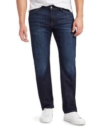 7 For All Mankind Standard Straight Jeans - Blue