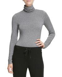 DKNY Women's Turtleneck Jumper - Peacoat - Size Xl - Grey