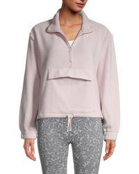 Splendid Cora Half-zip Fleece Pullover - Black