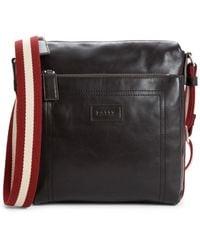 Bally Men's Tuston Leather Crossbody Bag - Chocolate - Brown