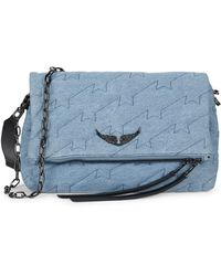 Zadig & Voltaire Rocky Cotton Quilted Crossbody Bag - Blue