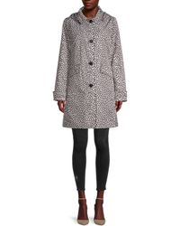 Kate Spade Leopard-print Raincoat - Grey