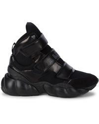 MCM Himmel Mixed Media High-top Trainers - Black