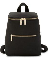 Peace Love World Debossed Boxy Backpack - Black