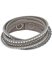 Swarovski - Crystal & Suede Multi-strand Bracelet - Lyst