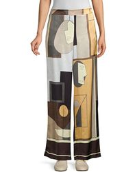 Lafayette 148 New York Columbus Wide-leg Printed Trousers - Multicolour