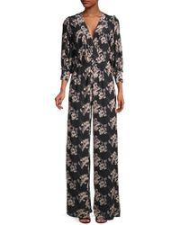 IRO - Women's Mexi Printed Jumpsuit - Black - Size 34 (2) - Lyst