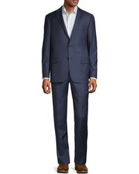 Hickey Freeman Classic-fit Wool Suit - Blue