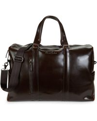 Robert Graham Aegean I Leather Weekender - Brown