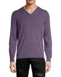 Brunello Cucinelli Men's Cashmere Sweater - Purple - Size 46 (xs)