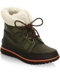 Sorel Cozy Carnival Nylon And Fleece Boots - Green