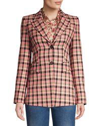 Michael Kors Plaid Wool Blazer - Multicolour