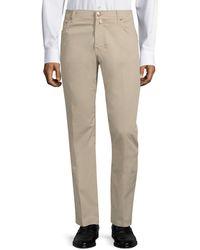 Corneliani Five-pocket Cotton Pants - Natural