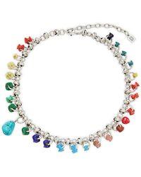 DANNIJO Silvertone & Turquoise Necklace - Multicolor