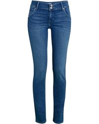 Hudson Jeans Collin Mid-rise Skinny Jeans - Blue