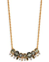 Alexis Bittar Goldplated Pyrite & Crystal Bar Pendant Necklace - Metallic