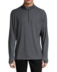 Tommy Bahama Men's Palm Valley Quarter-zip Sweater - Black Heather - Size Xl