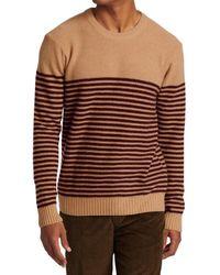 Saks Fifth Avenue Collection Stripe Cashmere Jumper - Brown