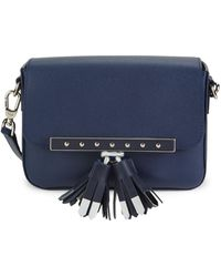 Longchamp Game On Leather Crossbody Bag - Blue