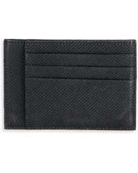 Saks Fifth Avenue Collection Carbon Fibre Card Case - Black