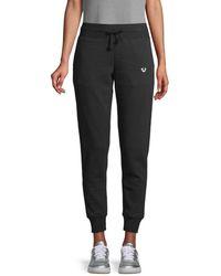 True Religion Drawstring Cotton-blend Trousers - Black