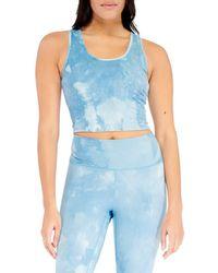 Electric Yoga Women's Tie-dyed Tank Top - Blue - Size Xl