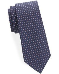 Saks Fifth Avenue - Two-tone Square Dot Silk Tie - Lyst