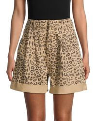 Free People Leopard-print Shorts - Multicolour