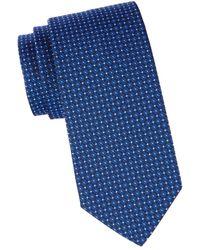 Brooks Brothers Men's Floral Silk Tie - Navy - Blue