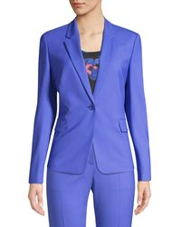 BOSS Jeniver Regular-fit Colored Stretch Wool-jacket - Blue
