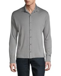 Isaia Regular-fit Cashmere & Silk Jersey Shirt - Grey