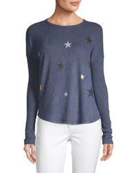 Sweet Romeo Star Print Pullover - Blue