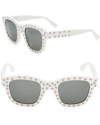b3c9c8bf0e Lyst - Saint Laurent Sl 108 Surf Sunglasses in White