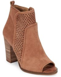 Lucky Brand - Lakmeh Peep Toe Booties - Lyst