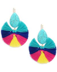 Panacea - Multicolored Tassel Earrings - Lyst