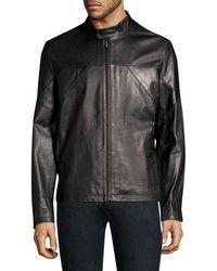 HUGO Lutger Leather Jacket - Black