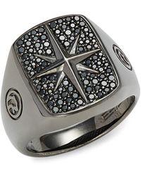 Effy - Black Rhodium-plated, Sterling Silver & Black Spinel Ring - Lyst