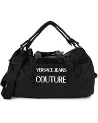 Versace Jeans Couture Convertible Overnight Bag - Black