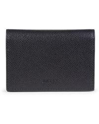Bally Men's Tobel Pebbled Leather Bi-fold Wallet - Black