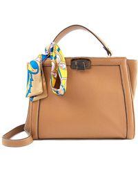 Sam Edelman Melanie Leather Top Handle Bag - Brown