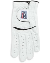 PGA TOUR Perforated Left Hand Leather Glove - White